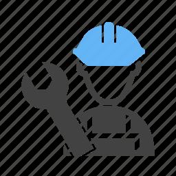 electrician, male, mechanic, plumber, technician icon