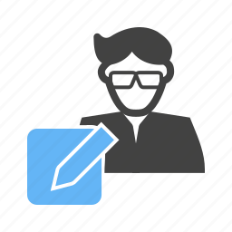 pa, reporter, secretary, worker icon