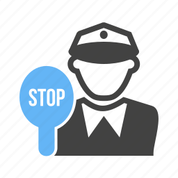 police, sign, stop, traffic icon