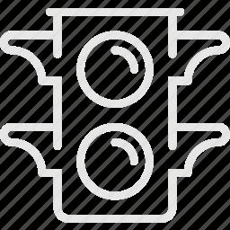 light, signal, stoplight, traffic, trafficlight, светофор icon