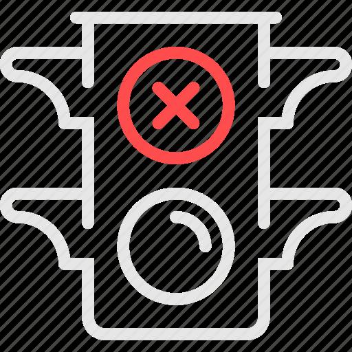 errors, light, red, signal, stoplight, traffic, светофор icon