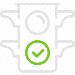 good, green, light, signal, stoplight, traffic, светофор icon