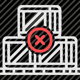 boxes, cargo, errors, shipment, коробки, перевозка, ящики icon