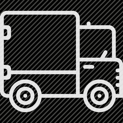 camper, truck, waggon, wan, грузовик, фура, фургон icon