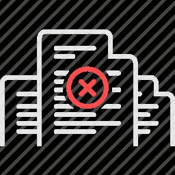 document, documentation, errors, invoice, документы, ошибка, счета icon