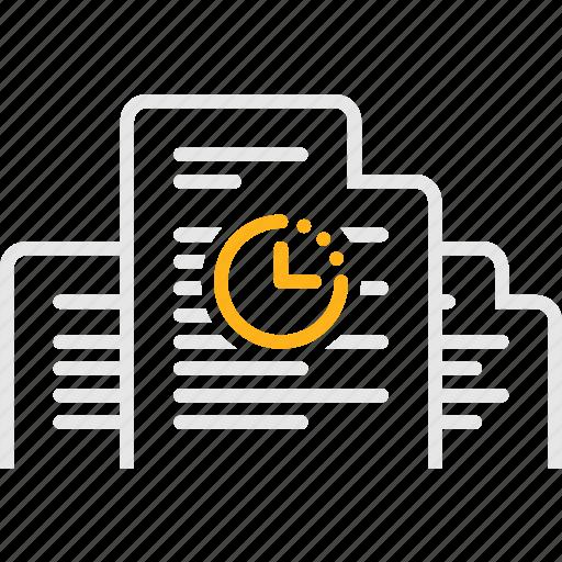 document, documentation, invoice, waiting, документы, ожидание, счет icon