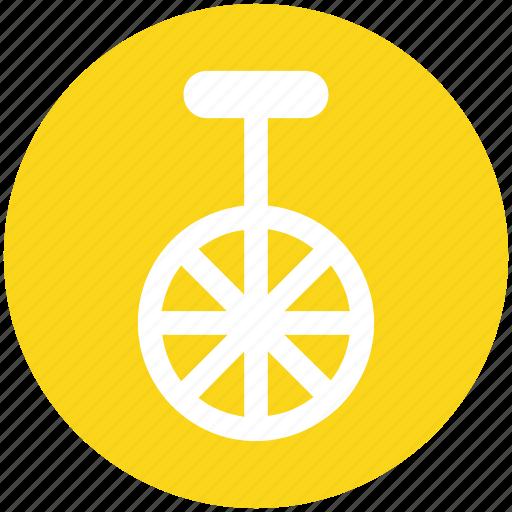 bike, cycle, mono cycle, unicycle, wheel icon