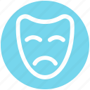carnival symbol, celebrations, circus mask, festival mask, festivity, mask