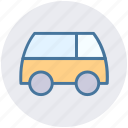 auto, motorcar, transport, van, vehicle icon