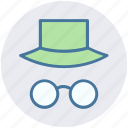 eyeglasses, eyeglasses and hat, eyeglasses with hat, fun, funny, hat icon