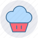 cupcake, dessert, food, maize, snacks, sweet icon