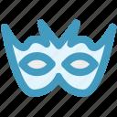 carnival mask, celebrations, circus mask, eye mask, festival mask, mask icon