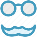 fun, funny, glasses, glasses and mustaches, glasses with mustaches, mustaches icon
