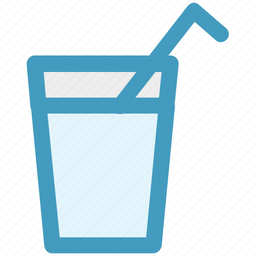 beverage, drink, glass, glass with straw, juice, water icon
