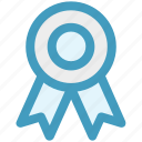 award badge, badge, badge with ribbon, emblem, seal icon