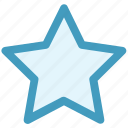 favorite, five pointed, like, sign, star, star shape