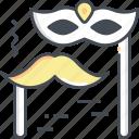 costume, moustache, mask, carnival
