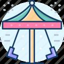 carousel, carnival, swings, fairground