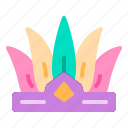 carnival, celebration, feather, hat, party icon