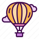 air, balloon, cloud, hot, travel icon