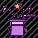 hat, magic, show, star, stick