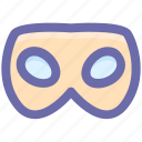 carnival mask, celebrations, eye mask, festivity, male carnival mask, mask icon
