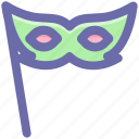 carnival mask, celebrations, circus mask, eye mask, festival mask, festivity icon