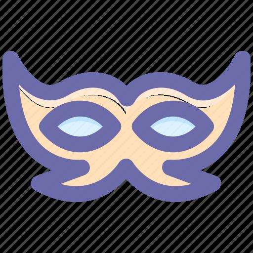 carnival mask, celebrations, circus mask, festival mask, festivity, mask icon
