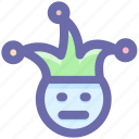 clown, comedian, face, jester, joker, jokester icon