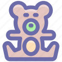 bear, teddy, teddy bear, toy, toy teddy, toy teddy bear icon