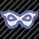 carnival mask, circus mask, eye mask, festival mask, male mask, mask icon