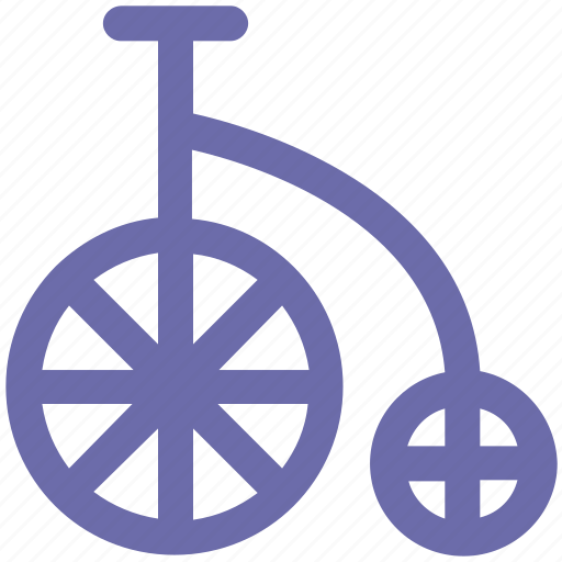 antique bicycle, bicycle, big bicycle, old fashioned bicycle, penny- farthing icon