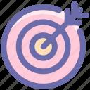 bulls eye, dartboard, goal, arrow on target, dart