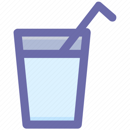 beverage, drink, glass, glass with straw, juice icon