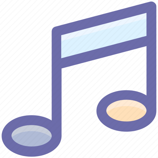 double bar note, music sign, musical note, musical sign icon