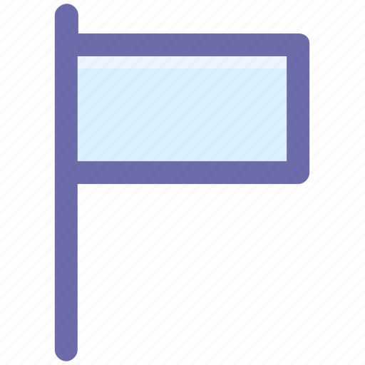 Banner, empty flag, ensign, flag, signal icon - Download on Iconfinder