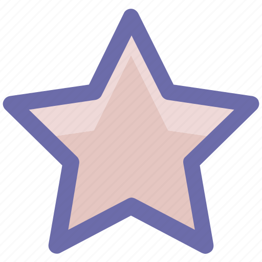 favorite, five pointed, like, sign, star, star shape icon