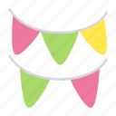 birthday, celebration, decorative, garlands, ornaments, party