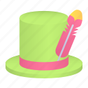 carnival, costume, fashion, feather, hat icon
