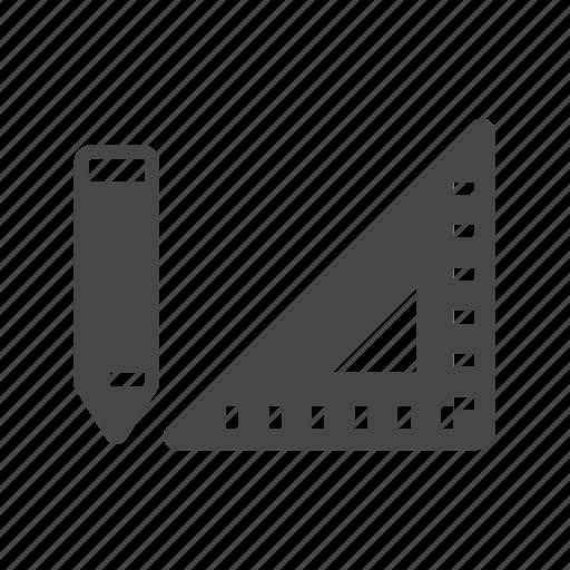 carpentry, construction, math, measure, ruler icon