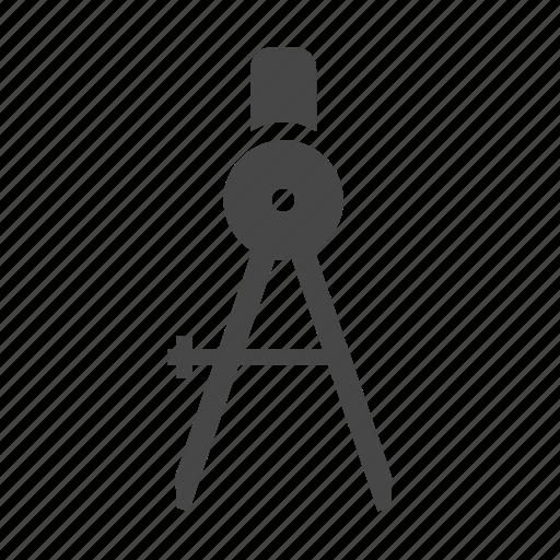 caliper, compass, design, drafting, precision, tools icon