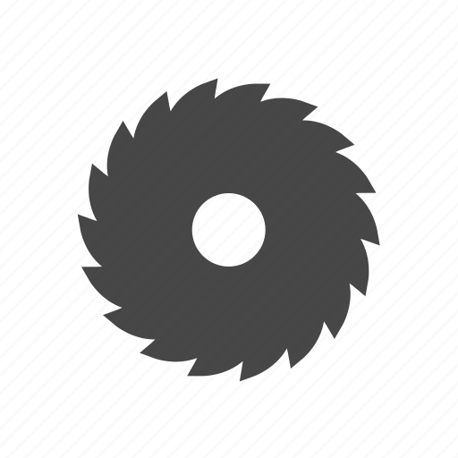 carpentry, circular saw, industrial saw icon