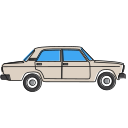 2107, auto, automobile, avtovaz, car, lada, vehicle icon