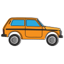 allroad, avtovaz, car, lada, niva, oldcar, side icon
