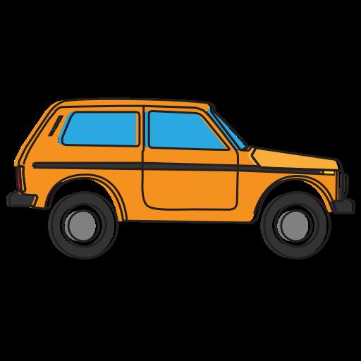 allroad, avtovaz, car, lada, niva, oldcar, side icon