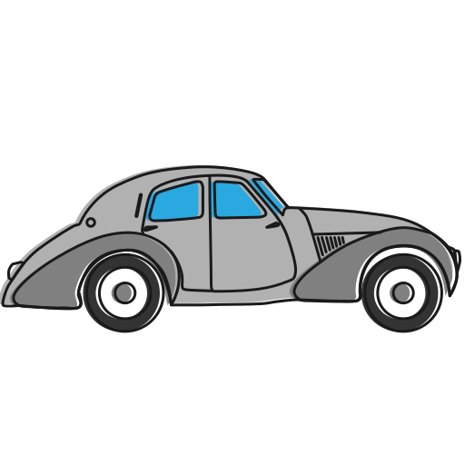 auto, car, oldcar, transport, vehicle icon