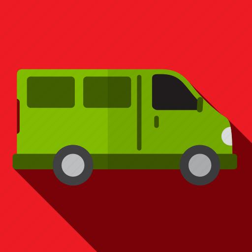 car, delivery, public, transport, transportation, van icon