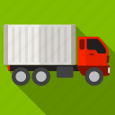 car, delivery, shadow, shipment, truck icon