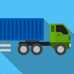 big, cars, delivery, shadow, shipment, truck icon
