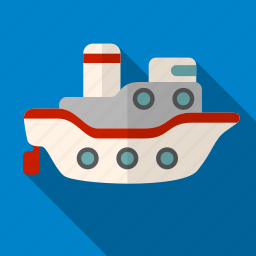 ocean, sea, shadow, ship, transport, travel icon